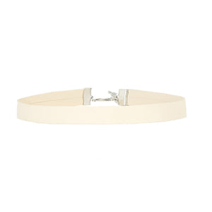 Cream 1.5 cm PU Faux Leather Choker