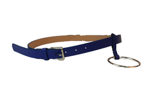 Faux Leather Belt with Big Circle Decoration