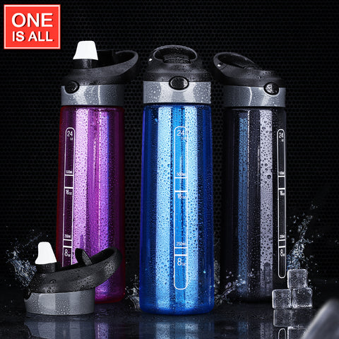 700ML Water Bottle My Sports Straw Bottles For Water Plastic Water tumbler Portable Bike - CampingParadis
