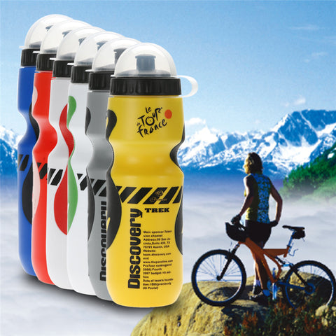 8 Colors 750ML Portable Outdoor Bike Bicycle Cycling Sports Drink Jug Water Bottle Tour De France Bicycle Bottle BPA Free - CampingParadis