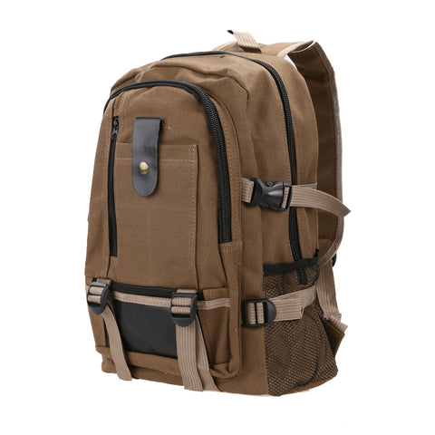 Unisex Canvas Schoolbag Travel Rucksack Mountain Backpack Camping Tagesrucksack - CampingParadis