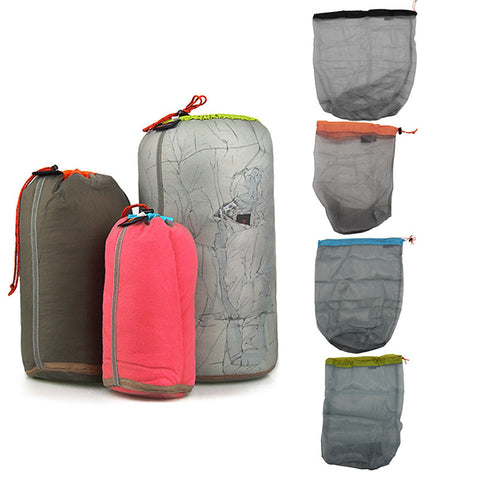 Rucksack / Outdoor Travel Camping Hiking / Drawstring Bag Picnic Bags Nylon Ultra Light Mesh Stuff Sack Storage Bag - CampingParadis