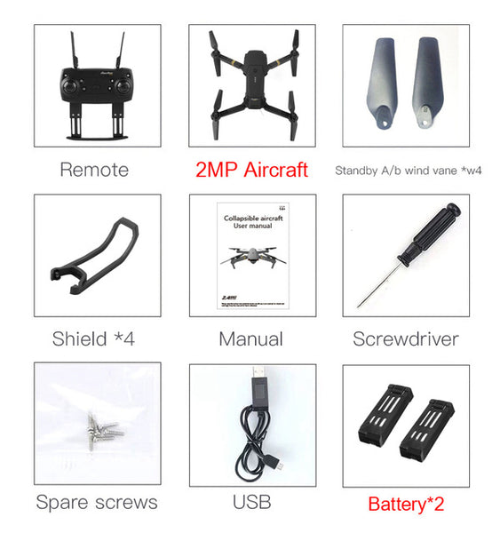 WIFI FPV With Wide Angle HD Camera High Hold Mode Foldable Arm RC Quadcopter RTF VS VISUO XS809HW JJRC H37 - CampingParadis