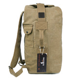 Multifunctional Canvas Backpack UNISEX Big Army Bucket Bag Outdoor Sports Travel Rucksack - CampingParadis