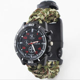 Multi-Functional Outdoor Camping Survival Watch Compass Thermometer