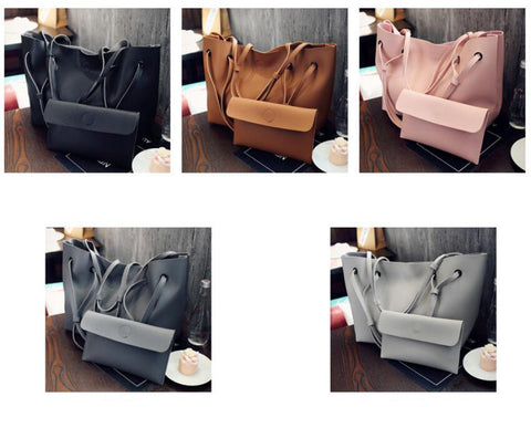 Soft Leather Women Bag Set Luxury Brand 2018 Wild Soft Leder Tasche Set - CampingParadis
