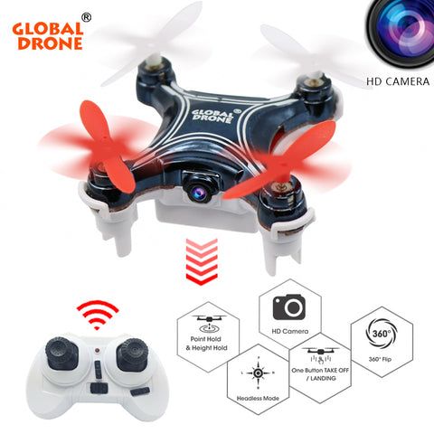 Global Drone GW009C-1 Mini Drone with Camera HD Quadcopter Altitude Hold RC Helicopter Headless Mode Drones Quadrocopter VS H36 - CampingParadis