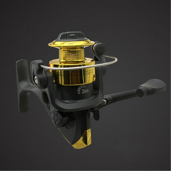 Spinning-type Fishing Reel Fishing Supplies Outdoor 3bb Plated Plastic Fishing - CampingParadis