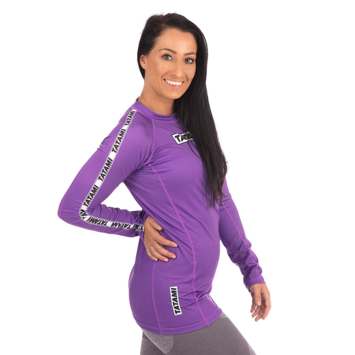 Tatami Ladies Dweller Long Sleeve Rash Guard - Purple