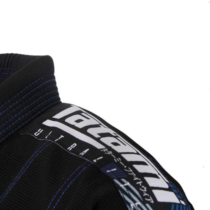 Tatami fightwear Elements Ultralite 2.0 Gi black logo patch jacket shoulder
