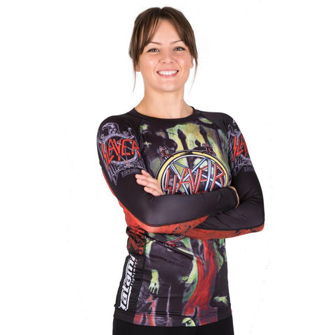 Ladies Slayer Reign In Blood Rash Guard