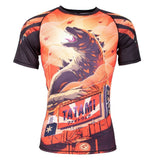 Tatami Godzilla Rash Guard Short Sleeve