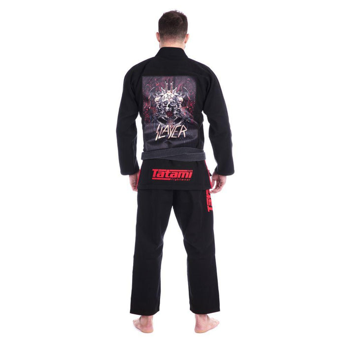 Tatami x Slayer Final Tour Gi lack back closeup patch