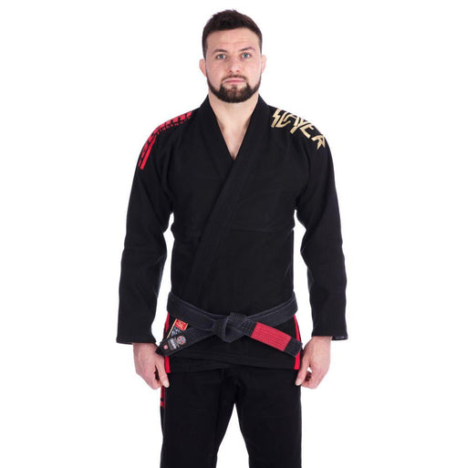 Tatami x Slayer Final Tour Gi front closeup black