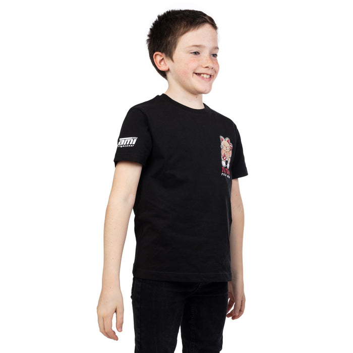 Tatami Kids Cat Fighter T-Shirt Black