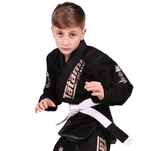 Meerkatsu Kids Animal BJJ Gi Black