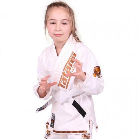 Meerkatsu Kids Animal BJJ Gi White