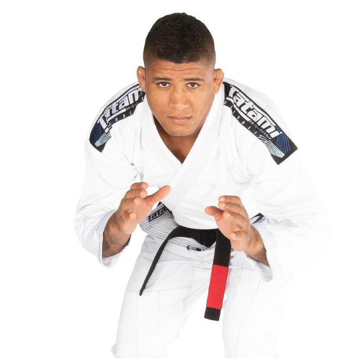Tatami fightwear Elements Ultralite 2.0 Gi white front closeup