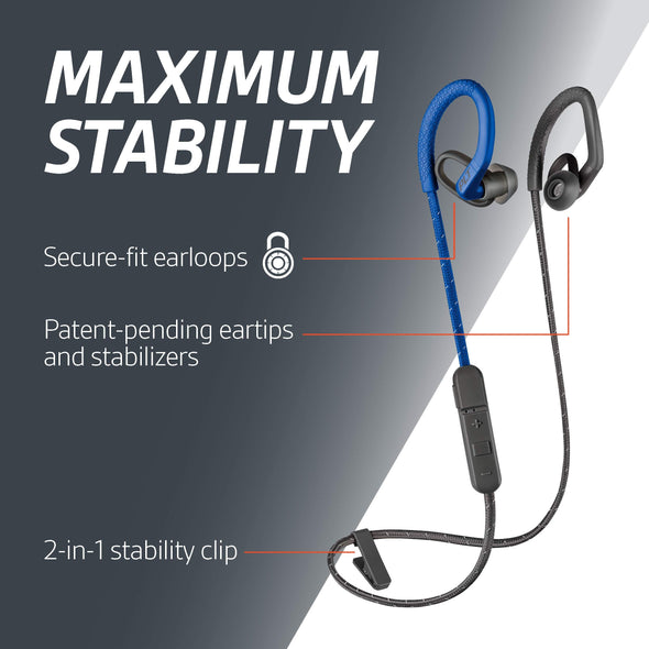 Plantronics BackBeat FIT 350 Wireless Headphones, Blue