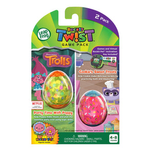 LeapFrog RockIt Twist Dual Game Pack: Trolls Party Time With Poppy