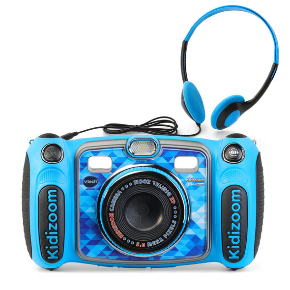 VTech Kidizoom Duo 5.0 Deluxe Digital Selfie Camera with MP3 Player and Headphones, Blue