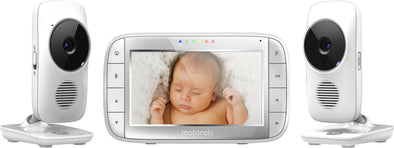 "Motorola Video Baby Monitor 5"" with 2 Cameras white - MBP48-2"