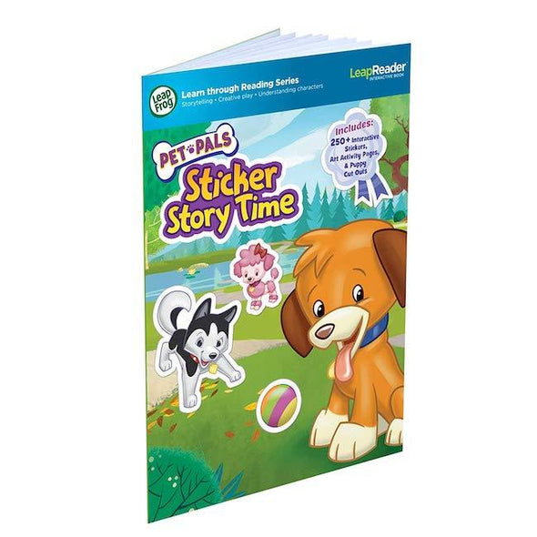 LeapFrog LeapReader Book: Pet Pals Sticker Story Time works with Tag