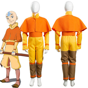 Avatar: The Last Airbender Avatar Aang Kids Children Jumpsuit Outfits Halloween Carnival Suit Cosplay Costume