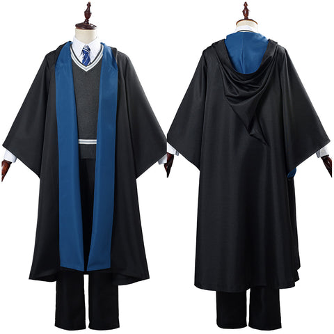 Harry Potter School Uniform Ravenclaw Robe Cloak Outfit Halloween Carnival Costumes for Men Cosplay Costume