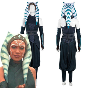 The Mandalorian S2 Ahsoka Tano Top Pants Outfits Halloween Carnival Suit Cosplay Costume