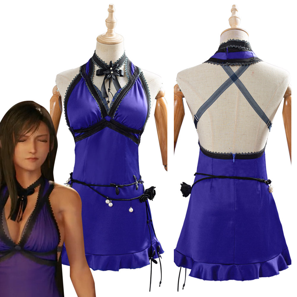 Game Final Fantasy VII Remake Tifa Lockhart Dress Cosplay Costume