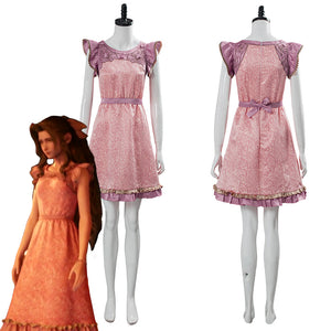 Final Fantasy VII:7 Remake Aerith Wall Market the Honeybee Inn Pink Short Dress Cosplay Costume
