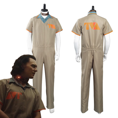 2021 TV Loki Loki Prison Uniform Halloween Carnival Suit Cosplay Costume