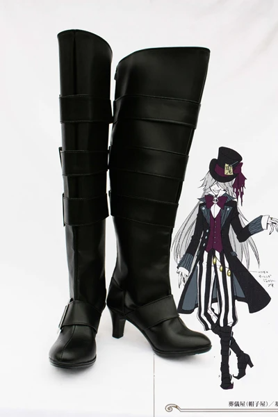 Black Butler Under Taker Cosplay Shoes Boots