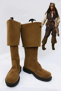 Pirates of the Caribbean Jack Sparrow Cosplay Boots Shoes