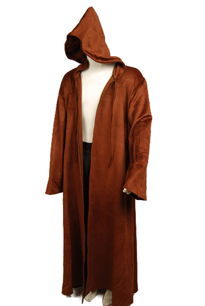 Star Wars Brown Sith Robe Jedi Wool Cloak Kenobi Costume