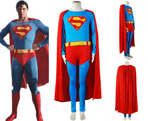 Superman Christopher Reeve Jumpsuit Cosplay Costume