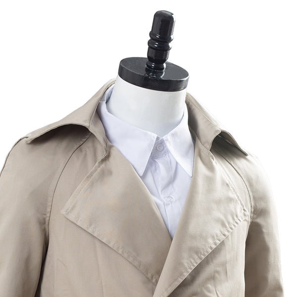 Supernatural Castiel Twill Trench Coat Costume
