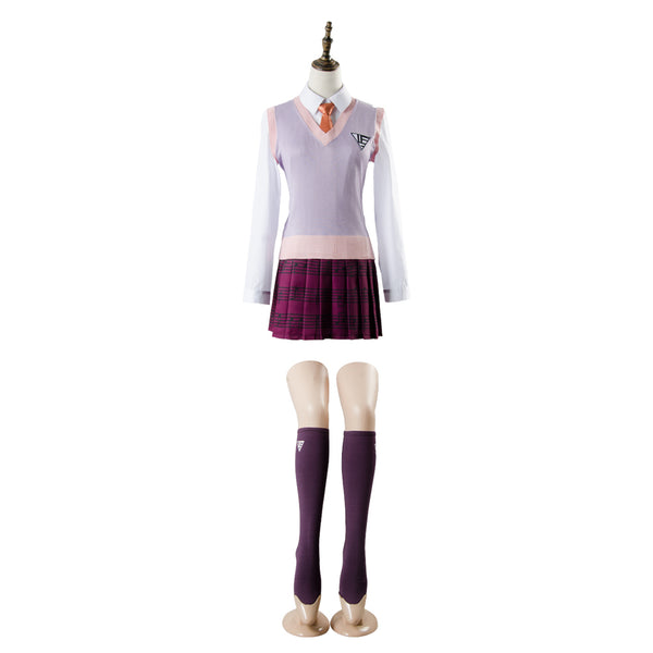 Danganronpa 3 Akamatsu kaede Outfit Dress Cosplay Costume