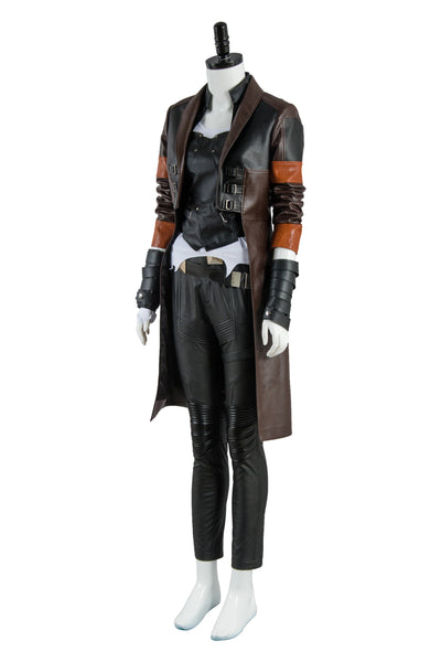 Guardians of the Galaxy 2 Gamora Outfit Suit Halloween Cosplay Costume Red