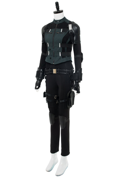 Avengers 3 :Infinity War Black Widow Natasha Romanoff Outfit Cosplay Costume whole set