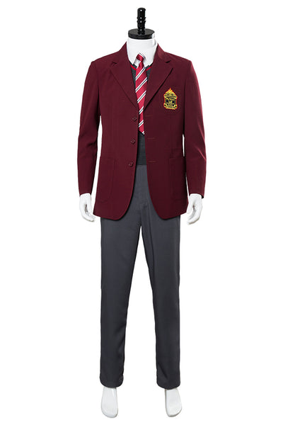 A Series of Unfortunate Events Klaus Baudelaire School Uniform Cosplay Costume