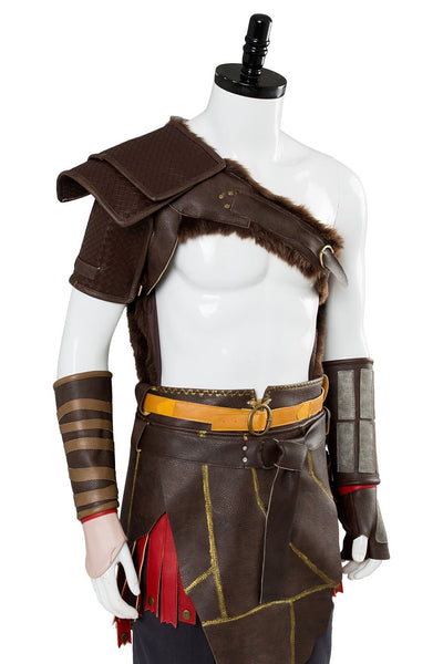 God of War 4 Kratos Nordic Outfit Spartan Battle Suit Cosplay Costume