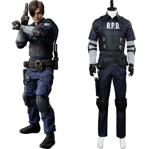 Video Game Resident Evil 2 Remake Re Leon Scott Kennedy Outfit Cosplay Costume