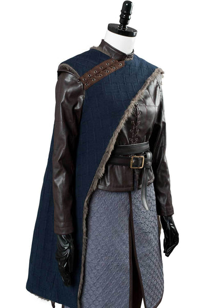 Game of Thrones Arya Stark Season 8 S8 Outfit Cosplay Costume Adult