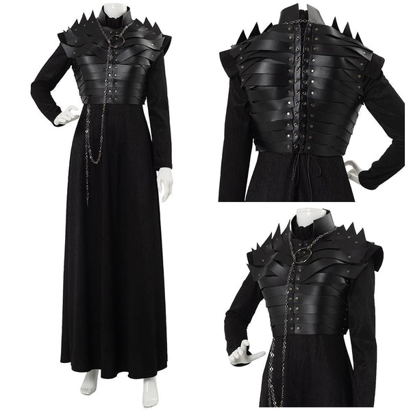 Game of Thrones Season 8 S8 E2 Sansa Stark Leather Armor Cosplay Costume