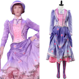 Jane Banks A Cover Is Not The Book Cosplay Hand Panted 2018 Mary Poppins Returns 2 Suit Cosplay Costume