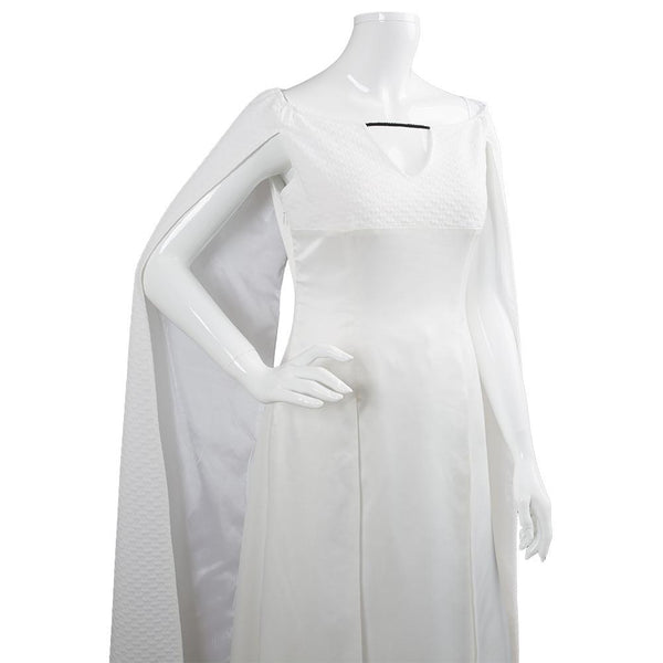 Game of Thrones 5 Daenerys Targaryen Dress White Long Party Dress Ball Gowns