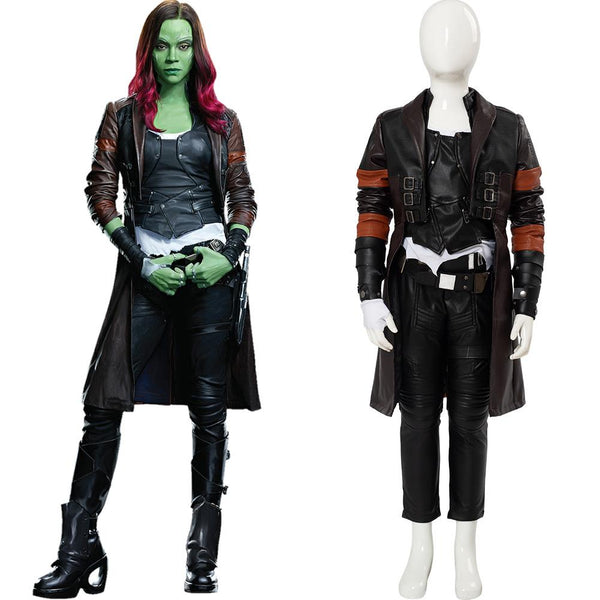 Guardians of the Galaxy 2 Gamora Outfit Cosplay Costume for Kids Girls