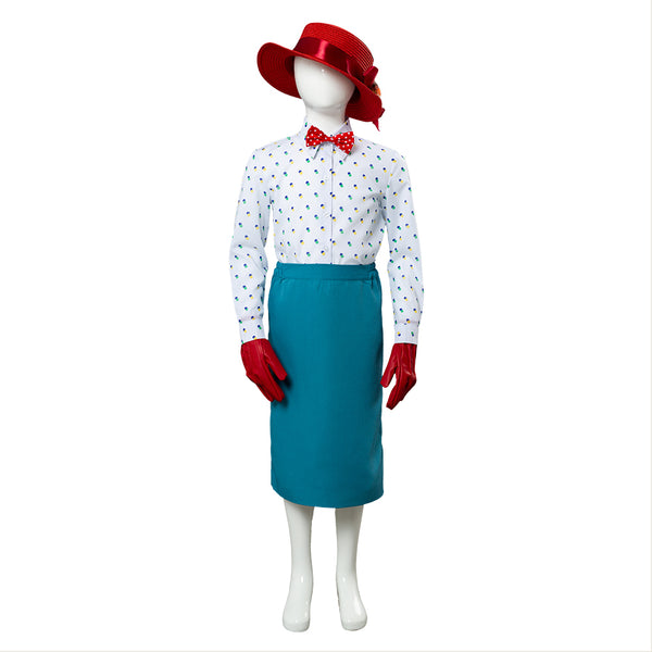 Mary Poppins Returns Mary Poppins Cosplay Costume for Kids Child
